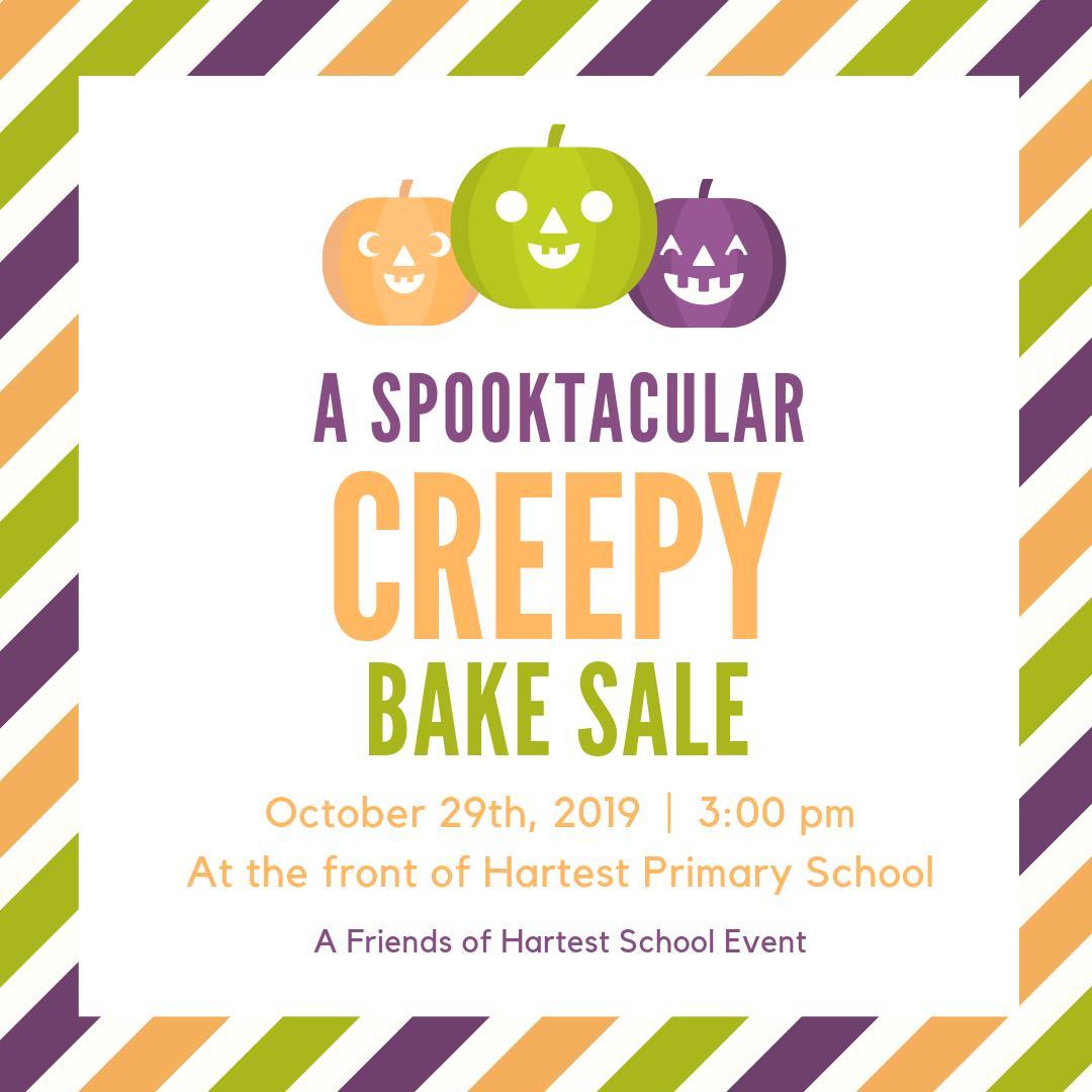 spooky bake sale FOH 2019